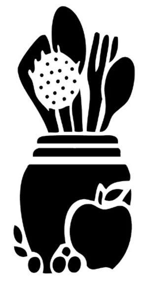 Pochoir Adhésif Repositionnable 16 x 9 cm Ustensiles de Cuisine