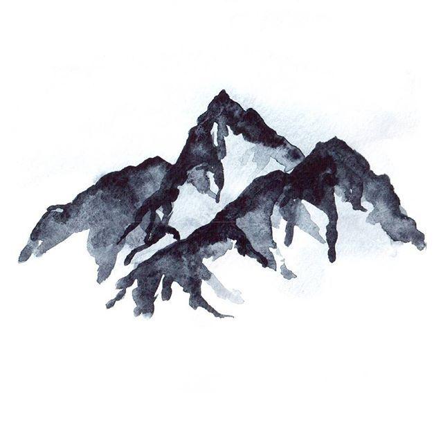 Горы продолжаются. . . . #акварель #рисование #скетч #горы #набросок #иллюстрация #рисунок #sketch #art #illustration #watercolor #mountains #graphic #графика #paint #painting #illustrator  #draw #drawing