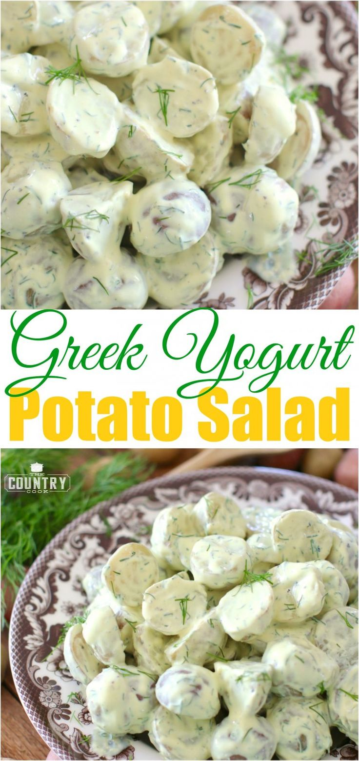 Greek Yogurt and Dill Potato Salad recipe from The Country Cook. Light, tangy and refreshing!