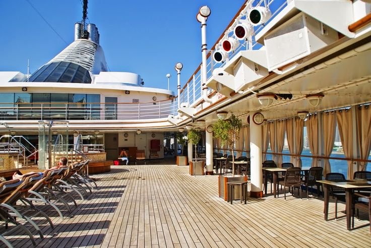 At the Silver Spirit luxury cruise ship with Silversea