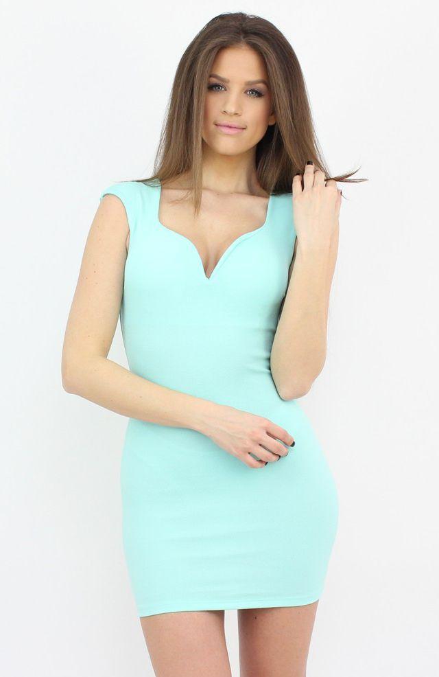 Green Bodycon Mini Dress by Famevogue...:)  #dress #shopping #moda #style #fashion #party