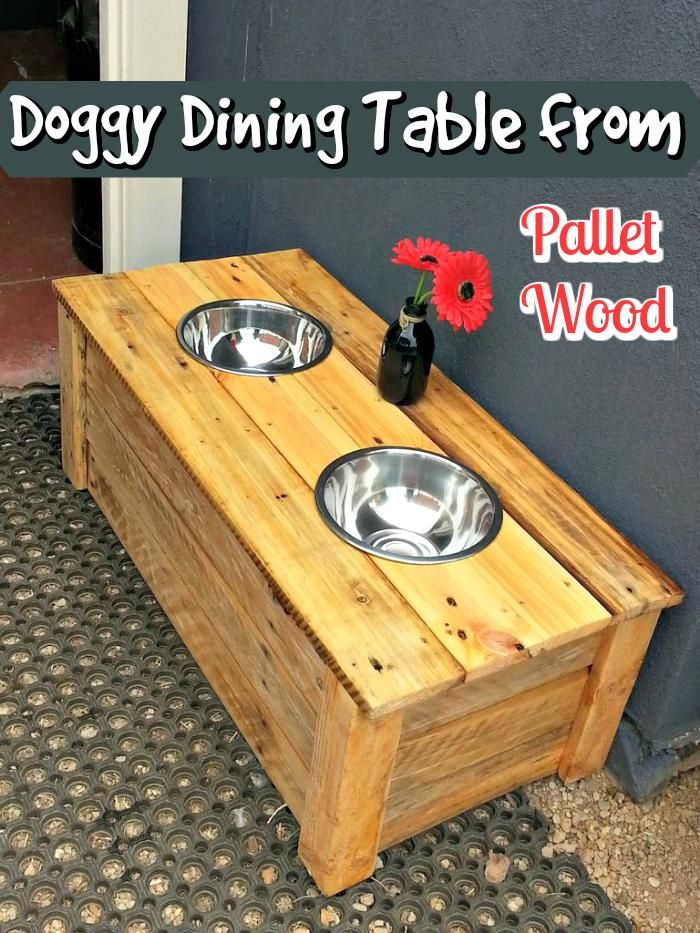 Doggy Dining Table from Pallet Wood - 150 Best DIY Pallet Projects and Pallet Furniture Crafts - Page 23 of 75 - DIY & Crafts
