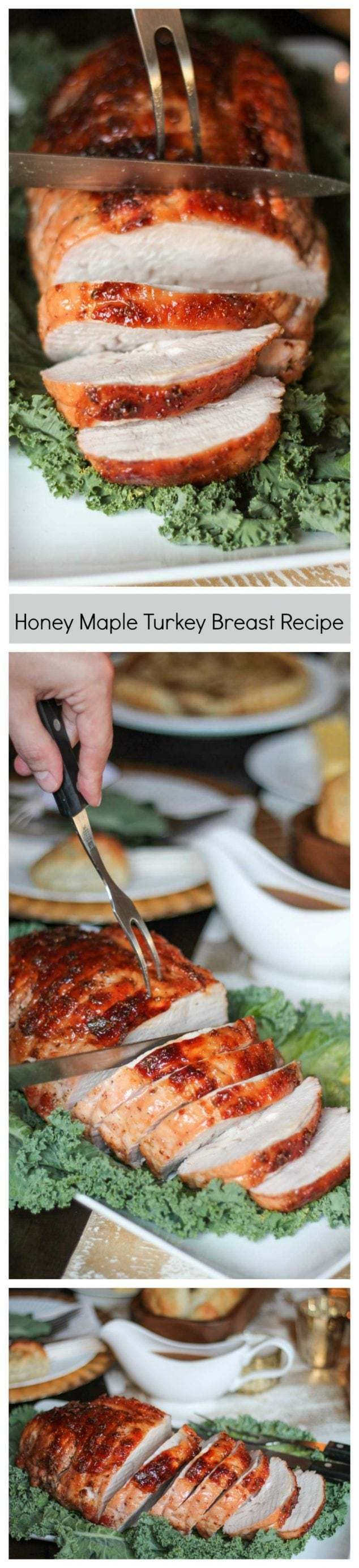 The easiest way to prepare turkey on Thanksgiving day! This delicious foolproof Honey Maple Turkey Breast recipe will be the star of the show on Thanksgiving. Hosting a smaller crowd for Thanksgiving? Not a fan of dark meat? Make this Honey Maple Turkey Breast instead of a full turkey. A five-pound turkey breast will serve at (read more)