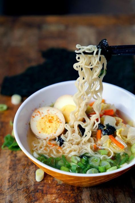 A quick and easy recipe to make miso ramen at home. Using red miso paste and sake mixed with a light chicken broth to create authentic Japanese flavors.