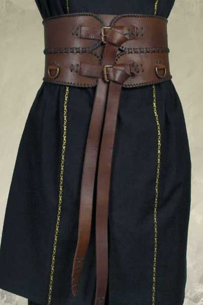 I love that it is so wide. Might have to make mine more angled between the two, though, to accommodate curves.  Double buckle wide band brown leather belt