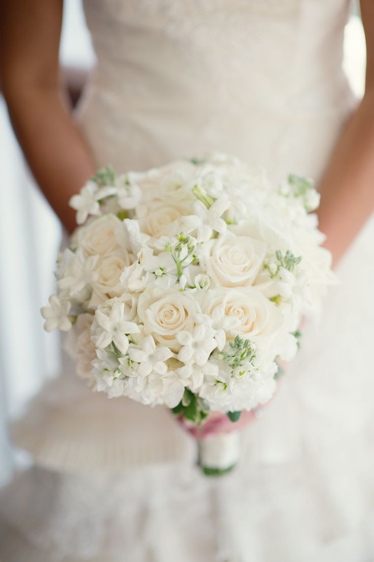 White Rose and Stephanotis Bridal Bouquet