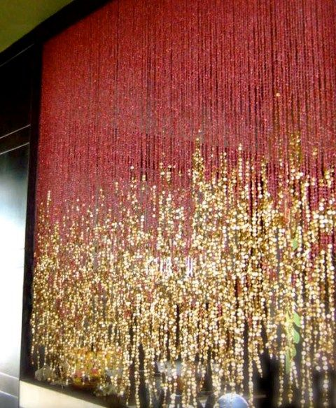 Pomegranate-Gold bead curtain (I don't know where I would put it but I want it anyway)