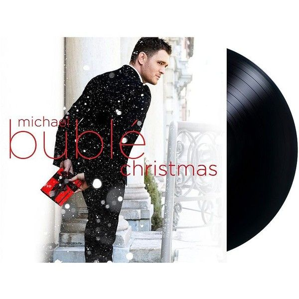 Vinyl Christmas - Michael Buble ($25) ❤ liked on Polyvore featuring home, home decor, holiday decorations, black, christmas holiday decor, holiday home decor, christmas holiday decorations and black home decor