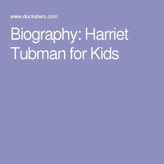 Biography: Harriet Tubman for Kids