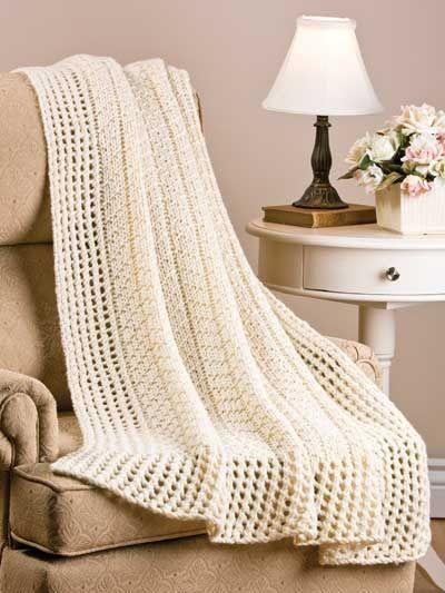 afghan loom knitting Little Chevron Rib Afghan Loom ...