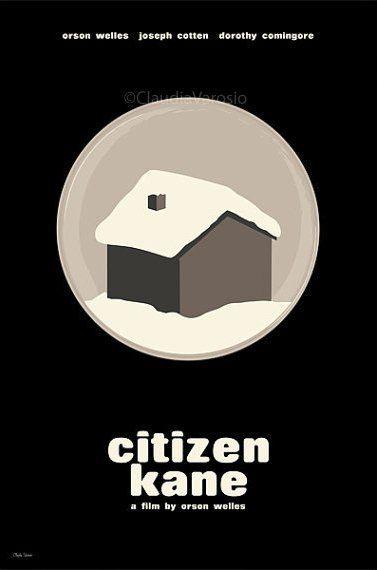 Citizen Kane (1941) - Minimal Movie Poster by Claudia Varosio #minimalmovieposter #alternativemovieposter #1940smovies #claudiavarosio