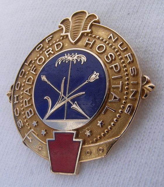 Bradford Hospital School of Nursing Graduation Pin 1943 (Now Bradford Regional Medical Center in Bradford, PA.)
