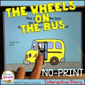 No-Print Wheels On The Bus Interactive Story