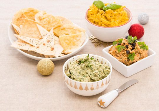 Three ways with Hummus. A great ways to start your Christmas celebrations!