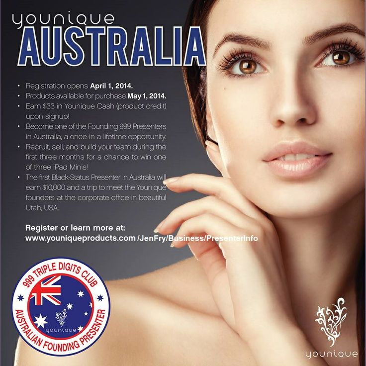 Eeeekkkk! So excited to announce the launch of Younique in Australia! New presenter registration starts April 1st and orders can be placed starting May 1st! The next 3 months are going to be amazing for you beautiful Australian ladies!!! <3 #younique #australia #makeup