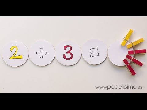 Creación de juego para enseñar la suma y la resta en aulas de infantil, con materiales reciclados.