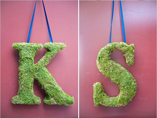 our initials. :-) <3 moss wedding letters