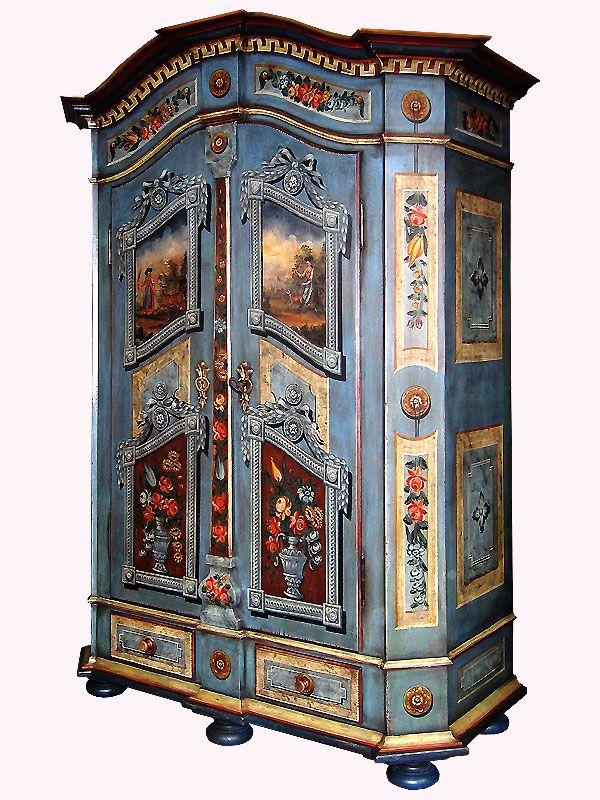 33 best Bauernschränke images on Pinterest | Bemalte möbel, Antike ...