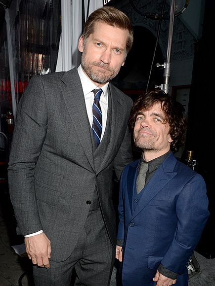 Star Tracks: Monday, April 11, 2016 | LANNISTER LOOKS | Also at the Game Of Thrones premiere Sunday, stars Nikolaj Coster-Waldau and Peter Dinklage.