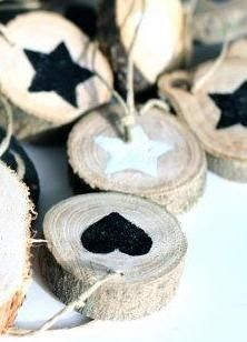Hanger kerst hout ster