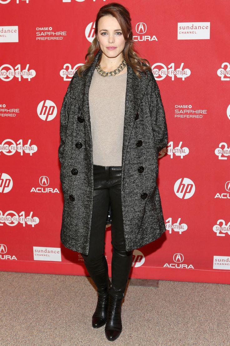 Rachel McAdams wearing @dolcegabbana coat – 'A Most Wanted Man' Premiere, Sundance Film Festival #2014