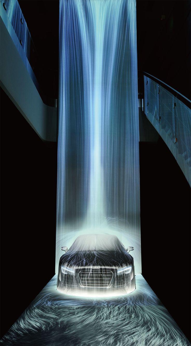 チームラボの展示会で、スポーツカー「Audi R8」に打ち付ける16メートルの滝が出現! | 販促会議 2014年3月号