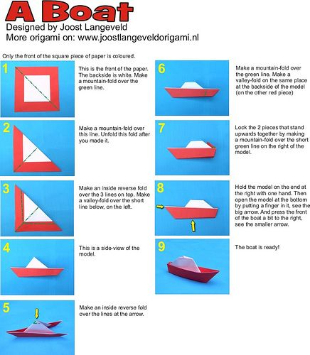 Origami Ships Instructions Origami Tutorial Lets Make It