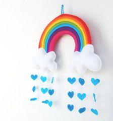 arcobaleno nuvole in feltro - Cerca con Google