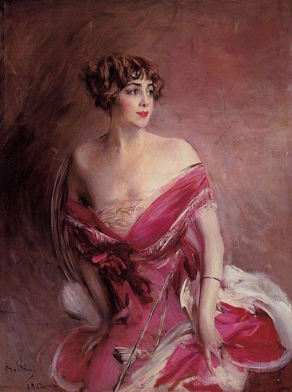 Portrait de Mlle de Gillespie - la Dame de Biarritz (1912) by Giovanni BOLDINI