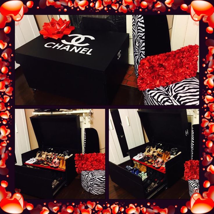 Giant Chanel shoes box storage fr hubby. ❤️