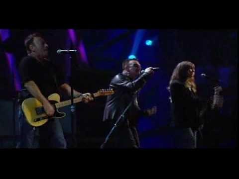 Bruce Springsteen, U2, Patti Smith - Because The Night RNR HOF 2009