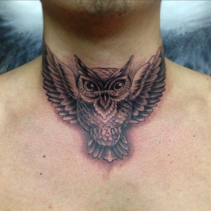 #owl #tattoo #blackandgrey #pinceltattoo #stgochile #owlkingtattooshop #buho #tatuaje