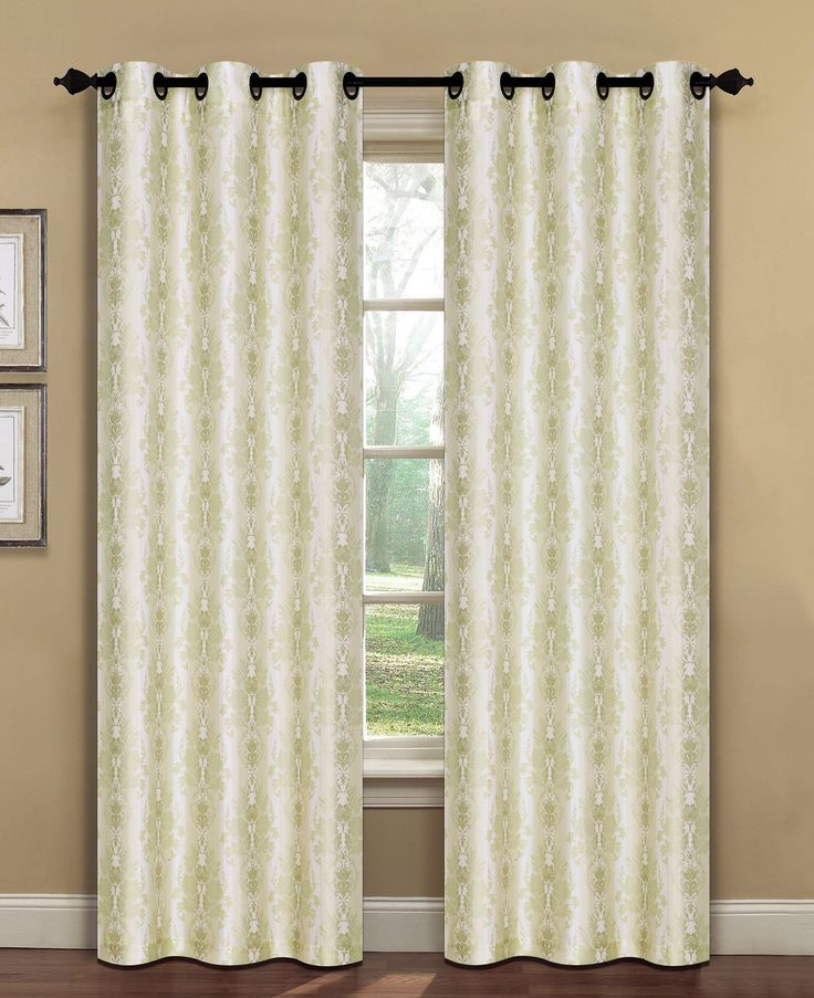 Meridith Damask Sheer Curtain Panels