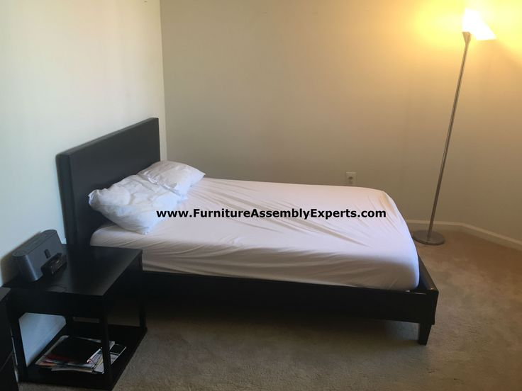 Wayfair Platform Bed And Night Stand Assembled For A Customer Moving In Her  Apartment In New