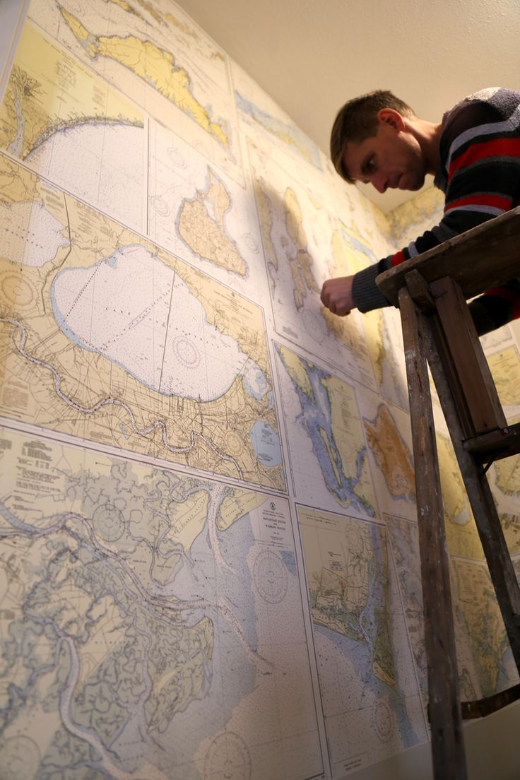 Nautical Chart Wallpaper installation - how to.