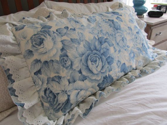 Shabby Chic KING Pillow Sham Vintage Martha by VintageVivant, $34.00 Pillows Pinterest ...