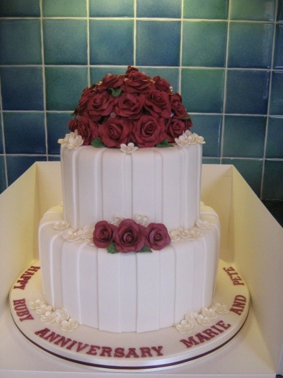 ruby wedding anniversary cake By newsums on CakeCentral.com