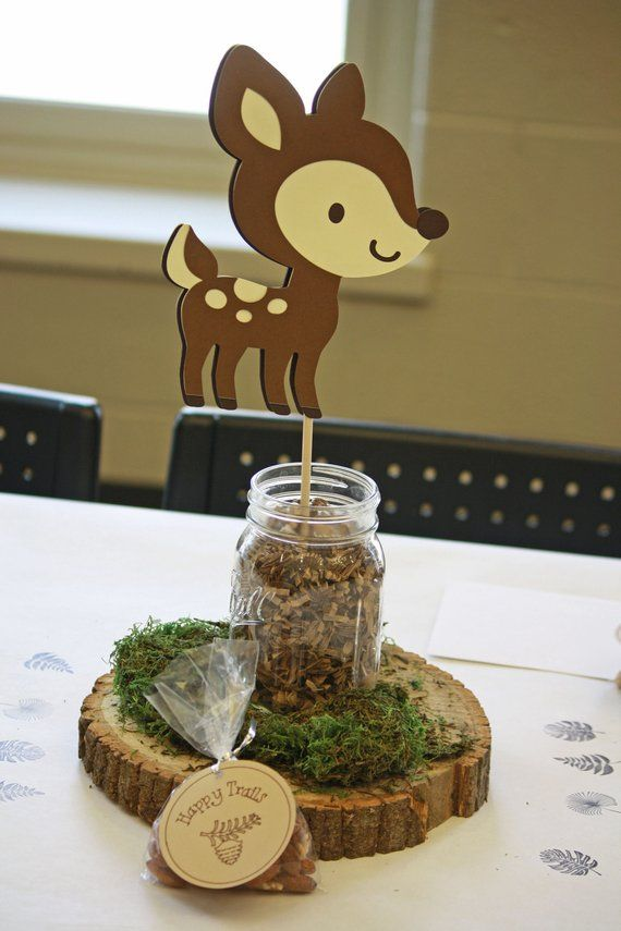 Woodland First Birthday Centerpiece Forest Animal Party Etsy Woodland Baby Shower Decorations Woodland Creatures Baby Shower Woodland Animal Baby Shower