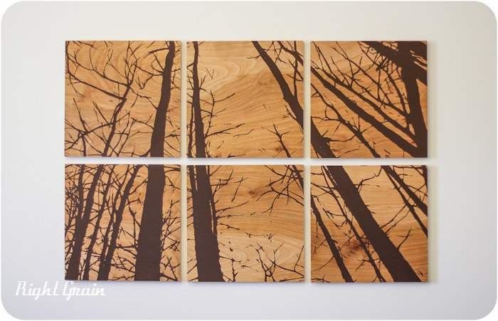The Wood Grain Forest Screen Print Collection by RightGrain, $225.00