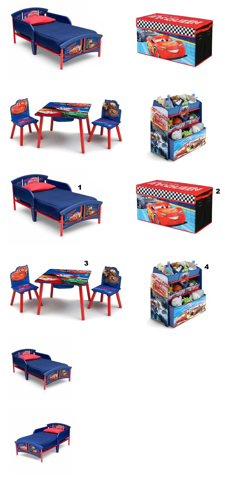 Storage toddler beds buy a storage toddler bed today amp save - Kids Furniture New Disney Cars Bedroom Furniture Set Room Toddler Bed Table Storage Toy Bin