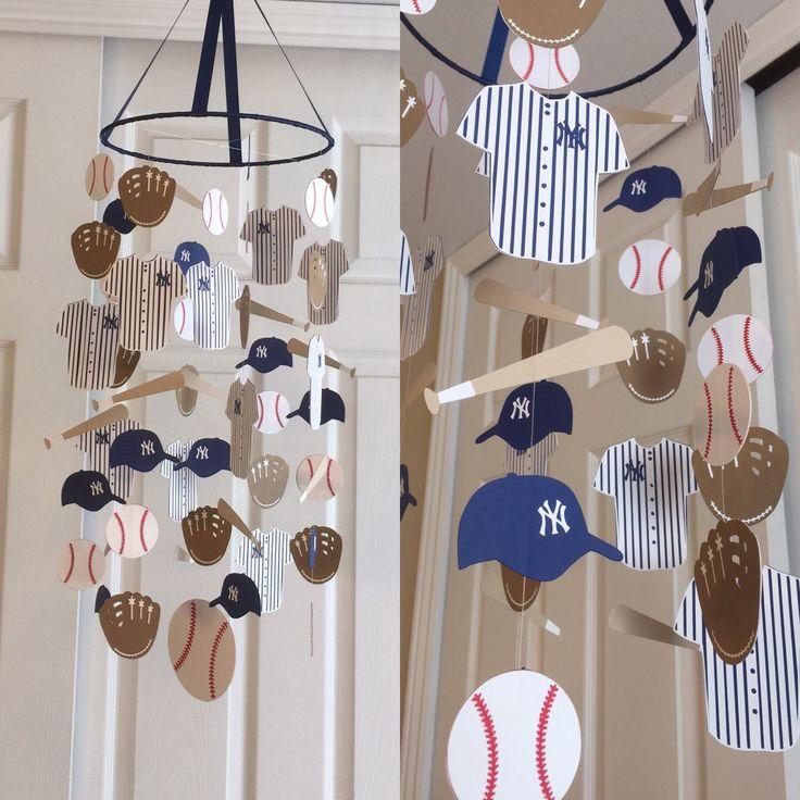 Baseball Mobile You Can Choose Your Colors Nursery Decor