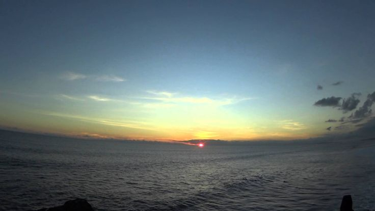 Sunset from Tanah Lot,Bali April 2014