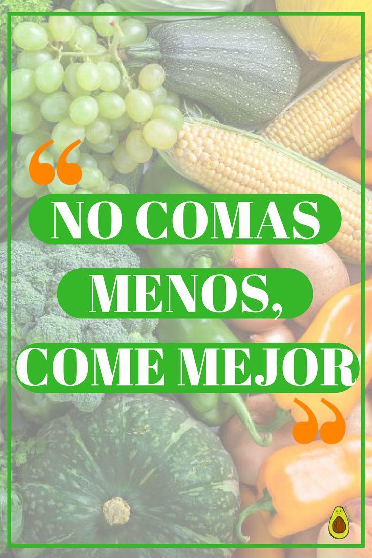 El secreto no es medirnos en las porciones, el secreto es comer sano y natural. #Comesano #Nutrición #Frases #Vidasana #Salud #comersanofrases
