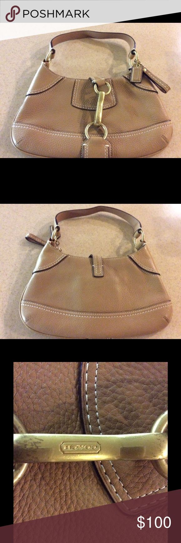 Leather Coach Hobo Bag Rich Tan Leather Coach Hobo Bag Coach Bags Hobos