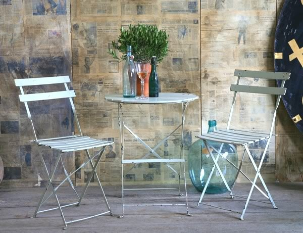 I Would Love This Vintage French Café Bistro Table U0026 2 Chairs Set. But $650