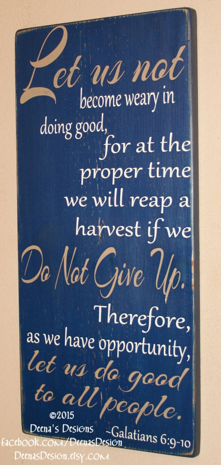 Law Enforcement Verse, Police Sign, Distressed Wall Decor, Custom Wood Sign, Police Officer Bible Verse, Thin Blue Line - Galatians 6:9-10 by DeenasDesign on Etsy https://www.etsy.com/listing/217495969/law-enforcement-verse-police-sign