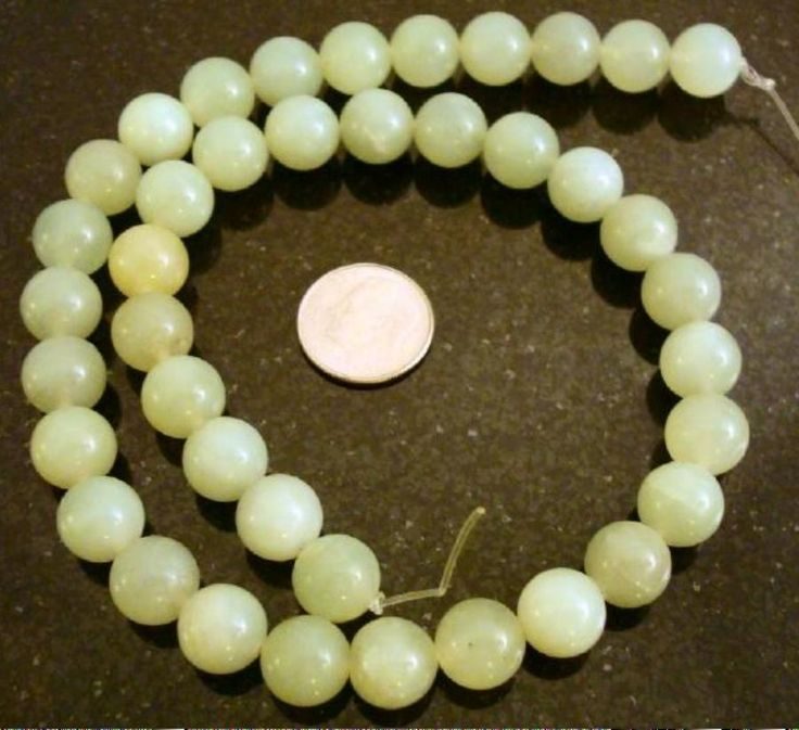 40 SOO CHOW Jade Beads (serpentine) 10mm round shaped beads 16 inch  BS048 #Silversmithsupply #StoneBeads