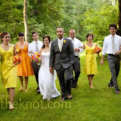 Planning An Outdoor Weddingkeep The Groomsmen Attire Casualas Picturedthe Groom Can Wear A Fitted Suit Or Opt To Not Jacket Only Vestnotice