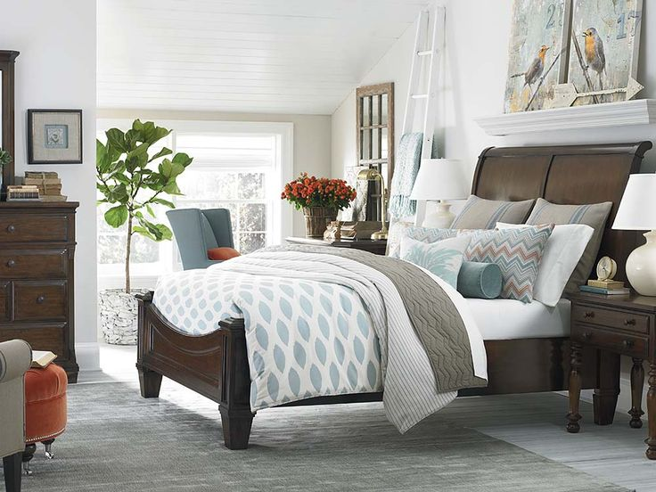 Bassett Highlands Sleigh Bed Available At Hickory Park Furniture Galleries