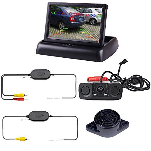 "Podofo Wireless Car Backup Camera with 2 Parking Alarm Sensors Radar Detector & 4.3"" LCD Rearview Monitor - http://www.caraccessoriesonlinemarket.com/podofo-wireless-car-backup-camera-with-2-parking-alarm-sensors-radar-detector-4-3-lcd-rearview-monitor/  #Alarm, #Backup, #Camera, #Detector, #Monitor, #Parking, #Podofo, #Radar, #Rearview, #Sensors, #Wireless #Electronics, #Radar-Detectors"